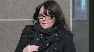 The case against former SNP MP Natalie McGarry was heard at Glasgow Sheriff Court (Andrew Milligan/PA)
