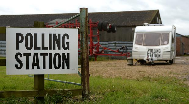 A caravan in Leicestershire that was used as a polling station for the 2017 general election (Joe Giddens/PA)