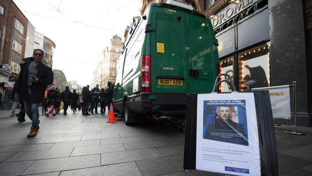 Facial Recognition Technology in use in Leicester Square, London. (Kirsty O'Connor/PA)
