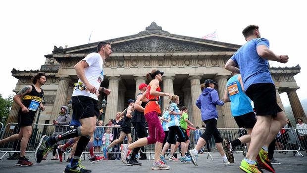 The route went through the centre of Edinburgh (Jane Barlow/PA)