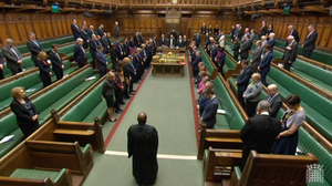 MPs observe a minute's silence in memory of those killed in the 2017 Westminster attack