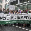 There is some opposition to HS2 (Victoria Jones/PA)
