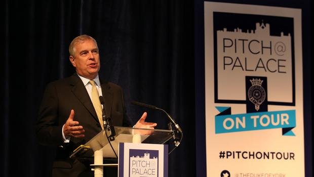 The Duke of York addresses the audience at a Pitch@Palace event (Andrew Milligan/PA)