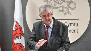 First Minister of Wales Mark Drakeford speaks at a press conference at the Senedd in Cardiff, ahead of a meeting with Prime Minister Boris Johnson.