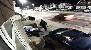 CCTV shows Craig Savage leaving a house in St Leonards, East Sussex, after carrying out the shootings (Sussex Police/PA)