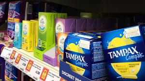 Abolition of the tax is expected to shave 7p off a pack of 20 tampons and 5p off 12 pads (Jane Barlow/PA)