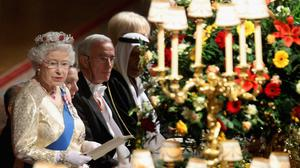 The Queen giving a speech during a State Banquet at Windsor (Chris Jackson/PA)