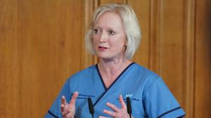 Chief nursing officer for England, Ruth May, said she was 'dropped' from a Downing Street briefing (Pippa Fowles/Crown Copyright/10 Downing Street/PA)
