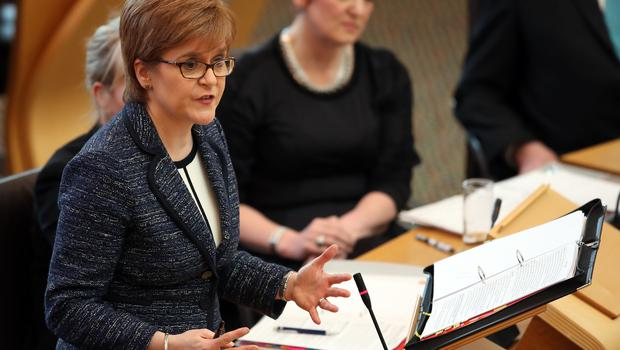 First Minister Nicola Sturgeon announced the establishment of an expert group during FMQs in April (Jane Barlow/PA)