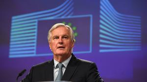 Michel Barnier says the UK must accept a common set of ground if it wants preferential access to EU markets (Stefan Rousseau/PA)