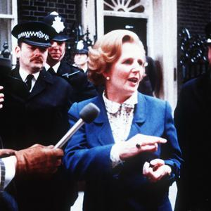 Margaret Thatcher arrives at 10 Downing Street after winning the 1979 election