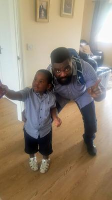 Charles Kwame Tanor, 39, and his four-year-old son, also called Charles.
