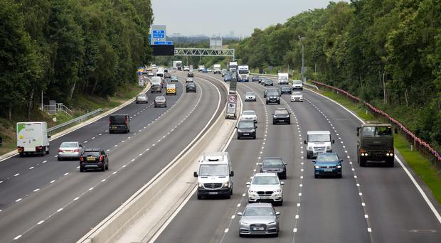 Smart motorways use the hard shoulder as a permanent or temporary traffic lane (Steve Parsons/PA)