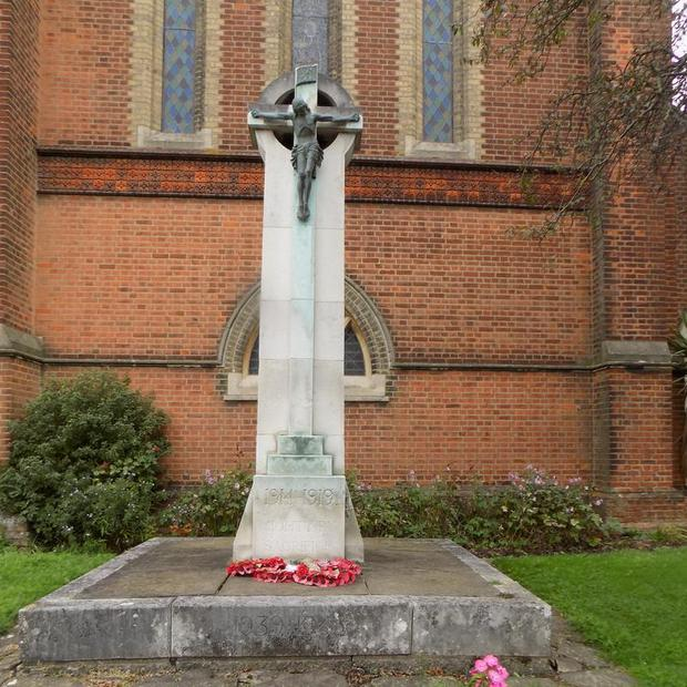 Bromley War Memorial, at St Luke's Church, Bromley Common (Imperial War Museum/PA)
