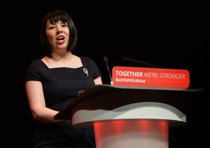 Monica Lennon, Shadow Minister for Inequality speaking on the second day of the Scottish Labour Party Conference at the Perth Concert Hall. PRESS ASSOCIATION Photo. PRESS ASSOCIATION Photo. Picture date: Saturday February 25, 2017. See PA story POLITICS Labour. Photo credit should read: Mark Runnacles/PA Wire