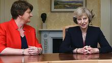 Arlene Foster and PM Theresa May