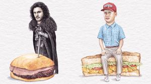 Jon Snow and Tom Hanks on sandwiches (Jeff McCarthy/Celebs on Sandwiches/PA)