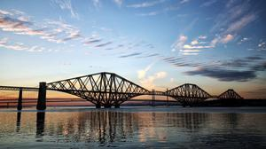 A view from South Queensferry of the Forth Bridge at sunset (Jane Barlow/PA)
