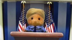 Imagined scenarios from Donald Trump's presidency acted out with Sylvanian Families (@F0rest_Trump/Twitter)