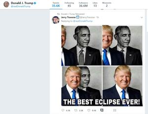 A screenshot of the president's retweet