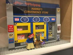 A model of Harrid's Convenience Store from Still Game, with Navid and Meena figurines (Michael Dineen)