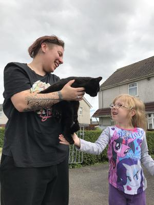 The cat was reunited with its owners thanks to its microchip. (RSPCA)