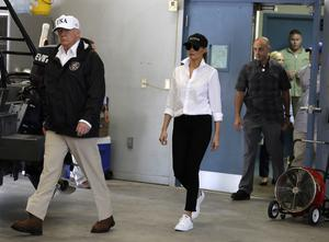 The Trumps arrive in Texas