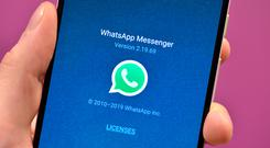 More than 12 billion of the total messages sent using WhatsApp globally were picture messages, the service said (Nick Ansell/PA)