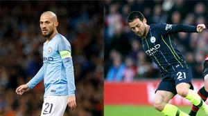 Manchester City midfielder David Silva with and without his hair (Martin Rickett/PA and Adam Davy/PA)