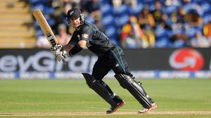 New Zealand's Nathan McCullum bats during the ICC Champions Trophy match at the SWALEC Stadium, Cardiff – (Andrew Matthews/PA)