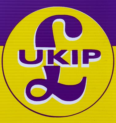Ukip's former logo with pound sign