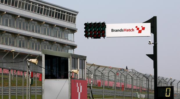 A view of a sign at Brands Hatch circuit – (Gareth Fuller/PA)