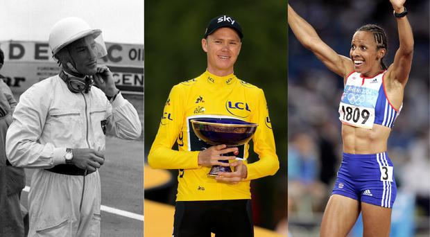 Sir Stirling Moss, Chris Froome and Dame Kelly Holmes – (PA, Adam Davy/PA, Phil Noble/PA)