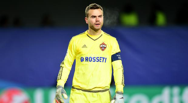 CSKA Moscow goalkeeper Igor Akinfeev has ended his run of Champions League games without a clean sheet (Adam Davy/EMPICS Sport)