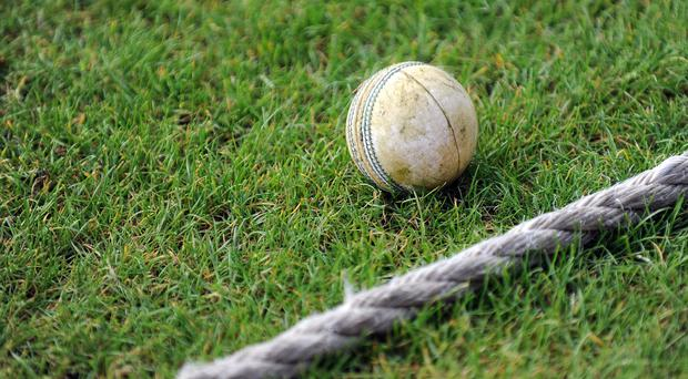 A white cricket ball next to the boundary – (Nigel French /EMPICS Sport)