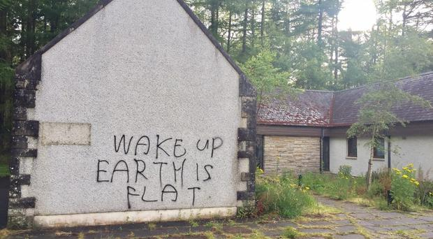 The graffiti has appeared in a number of locations (Highland and Islands Police Division/PA)