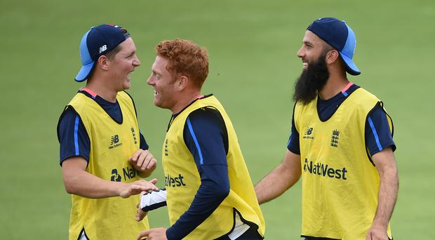 Gary Ballance, Jonny Bairstow and Moeen Ali – (Joe Giddens/PA)