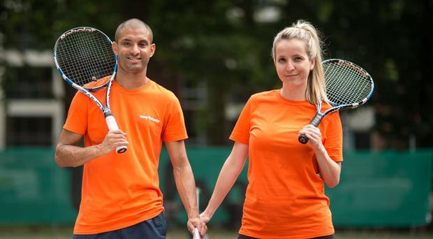 The new app is bringing tennis players together (James Millar Photography/PA)