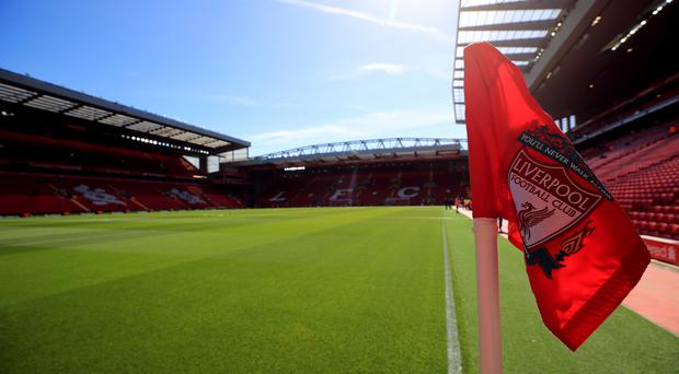 A Liverpool corner flag at Anfield