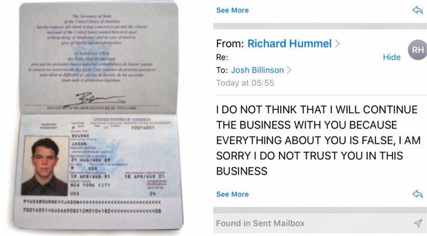 The Jason Bourne passport and the email