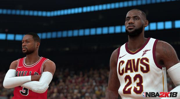 Footage from NBA 2K18