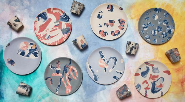 A range of cups and plates from Granby Workshop