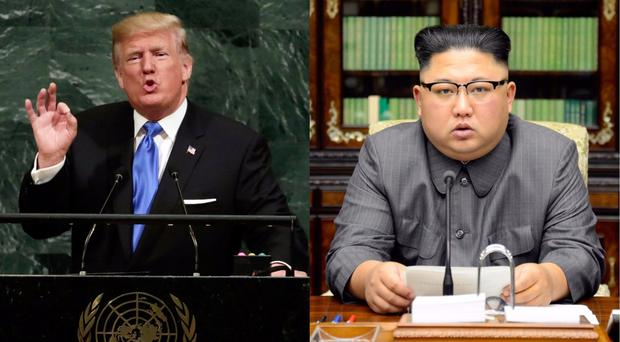 Donald Trump (left) and Kim Jong Un (right) (Richard Drew/AP/PA)