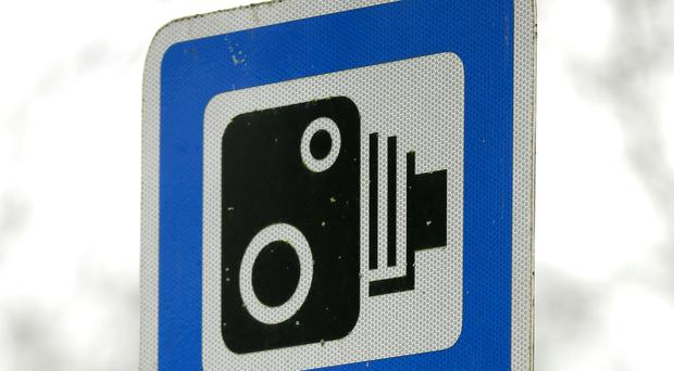 A speed sign