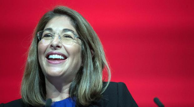 Author Naomi Klein addresses the Labour Party annual conference, at the Brighton Centre, Brighton