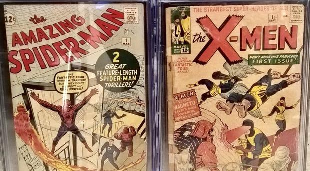 Comic books returned to their rightful owner after a package thief pinched them from a Brooklyn doorstep (NYPD)