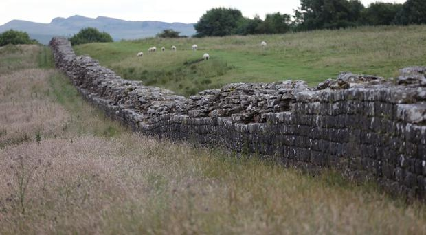 A section of Hadrian's Wall