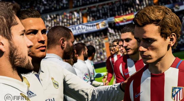 Cristiano Ronaldo and Antoine Griezmann on Fifa 18