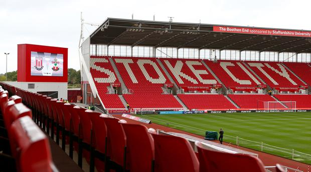 A view inside Stoke City's stadium