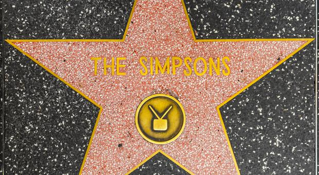 The Simpsons' hall of fame star